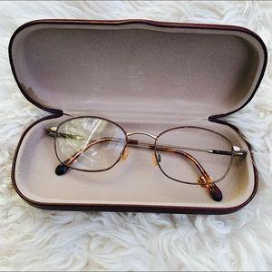 Vintage GM Havana Eyeglasses w/ Case